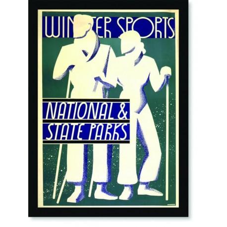 Quadro Poster Esportes Winter Sports National State Parks