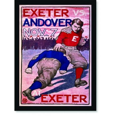 Quadro Poster Esportes Exeter vs Andover