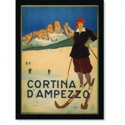 Quadro Poster Esportes Cortina Dampezzo