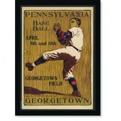 Quadro Poster Esportes Pennsylvania Base Ball