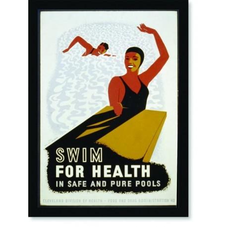 Quadro Poster Esportes Swim for Health