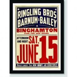Quadro Poster Circo Ringling Bross June 15