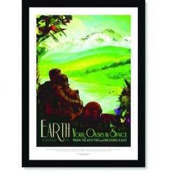 Quadro Poster Nasa Earth