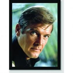 Quadro Poster Personalidades Roger Moore