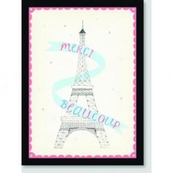Quadro Poster Pop Art Torre Eifell Merci