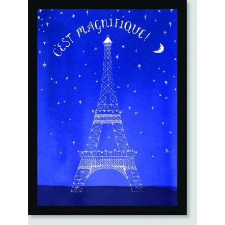 Quadro Poster Pop Art Torre Eifell Estrelas