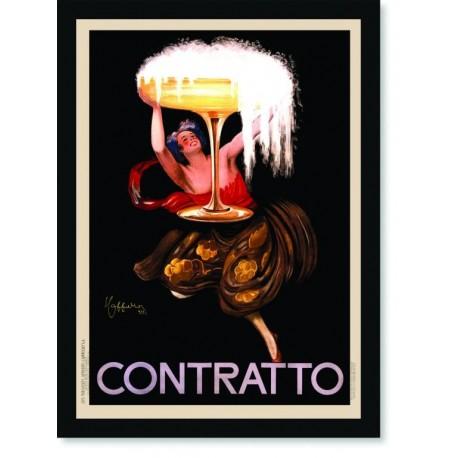 Quadro Poster Propaganda Bebidas Champagne Contratto