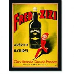 Quadro Poster Propaganda Bebidas Vinho Fred Zizi