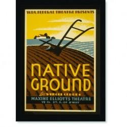 Quadro Poster Propaganda Bebidas Native Ground