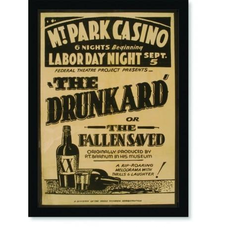 Quadro Poster Propaganda Bebidas The Drunkard