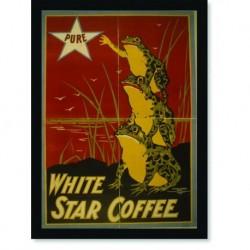 Quadro Poster Propaganda Bebidas White Star Coffee