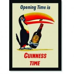 Quadro Poster Propaganda Bebidas Guinness Time