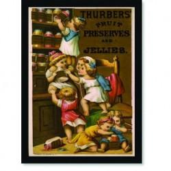 Quadro Poster Propaganda Bebidas Thurbers Jellies