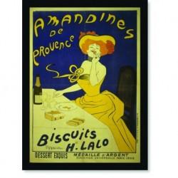 Quadro Poster Propaganda Bebidas Amandines de Provence