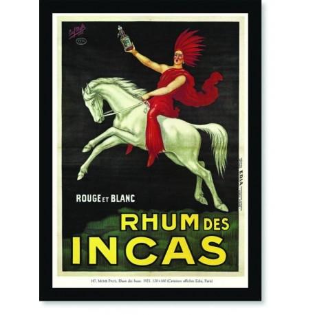 Quadro Poster Propaganda Guerra Rhum des Incas