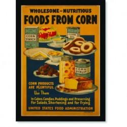 Quadro Poster Propaganda Bebidas Foods From Corn