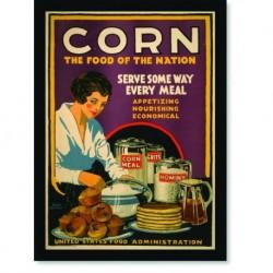 Quadro Poster Propaganda Bebidas Corn The Food of Nation