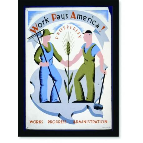 Quadro Poster Propaganda Bebidas Work Paus America