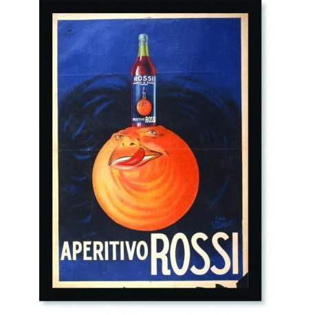 Quadro Poster Propaganda Bebidas Aperitivo Rossi