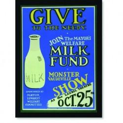 Quadro Poster Propaganda Bebidas Milk Fund