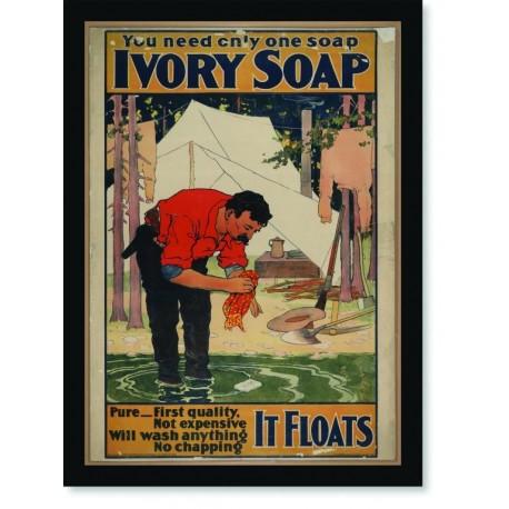 Quadro Poster Propaganda Bebidas Ivory Soap