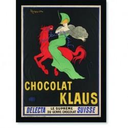 Quadro Poster Propaganda Bebidas Chocolote Klaus