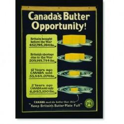 Quadro Poster Propaganda Bebidas Canadas Butter Opportunity