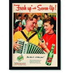 Quadro Poster Propaganda Bebidas Seven Up