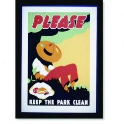 Quadro Poster Propaganda Bebidas Please The Park Clean