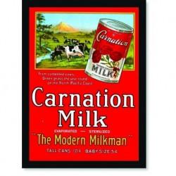 Quadro Poster Propaganda Bebidas Carnation Milk