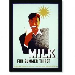 Quadro Poster Propaganda Bebidas Milk for Summer Thisrt