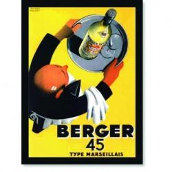 Quadro Poster Propaganda Bebidas Berger Type Marseillais