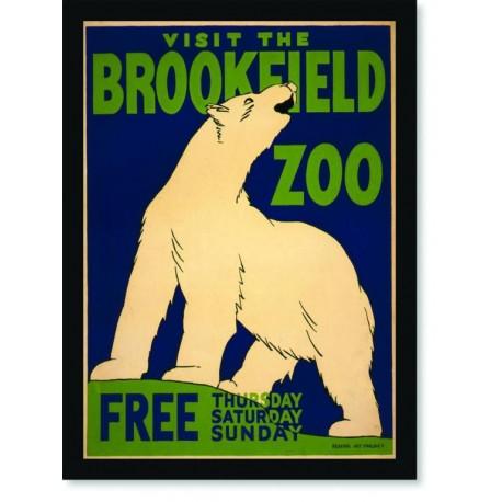 Quadro Poster Natureza Visit The Brookfield Zoo Free
