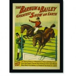 Quadro Poster Natureza The Barnum e Bailey Horse Show