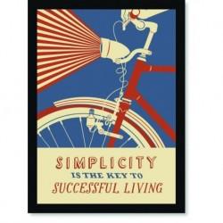 Quadro Poster Pop Art Bicicleta vintage