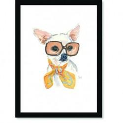 Quadro Poster Pop Art Cachorro oculos