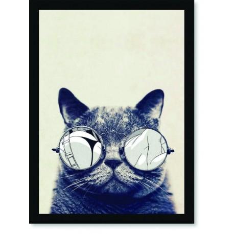 Quadro Poster Pop Art Gato espelhado