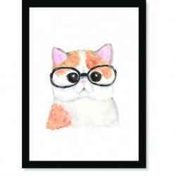 Quadro Poster Pop Art Gato oculos