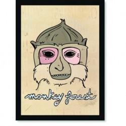 Quadro Poster Pop Art Monkey forest