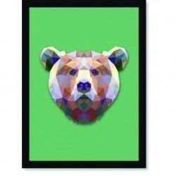 Quadro Poster Pop Art Urso