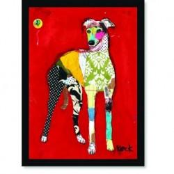 Quadro Poster Pop Art Cachorro Patchwork