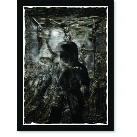 Quadro Poster Pop Art Cristo e o Astronauta