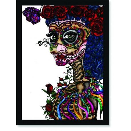 Quadro Poster Pop Art Dia dos Mortos 2
