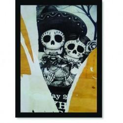 Quadro Poster Pop Art Dia dos Mortos