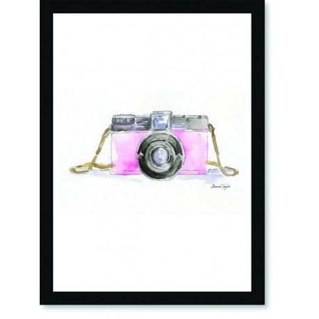 Quadro Poster Pop Art Máquina Fotográfica