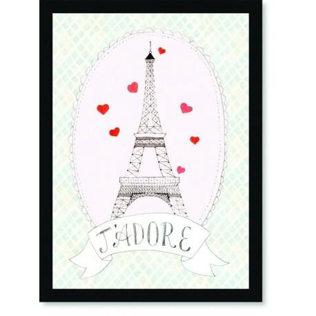 Quadro Poster Pop Art Torre Eifell