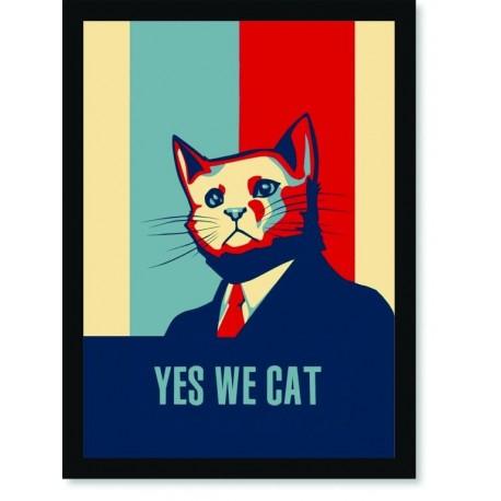 Quadro Poster Pop Art Yes We Cat