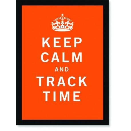 Quadro Poster Art Digital Keep Calm Track