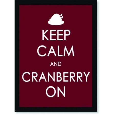 Quadro Poster Art Digital Keep Calm Cranberry
