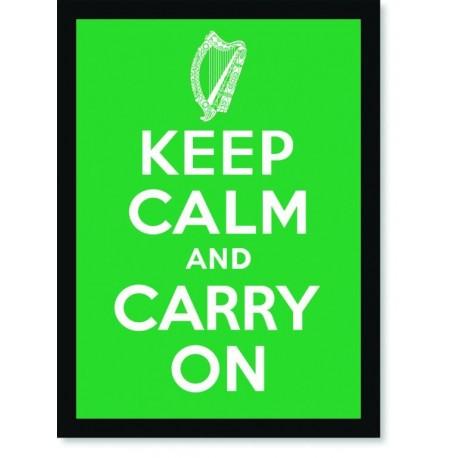 Quadro Poster Art Digital Keep Calm Carry